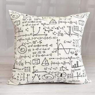 Подарок для учителя, Математическая подушка, Подушка с формулами, Декоративная подушка