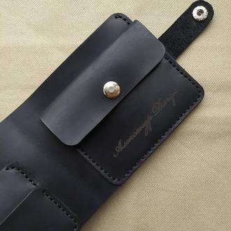 Стильный кошелек из натуральной кожи. Мужское портмоне. Качество