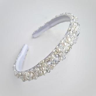 Свадебный обруч, ободок для невесты, обруч для волос, ободок для прически