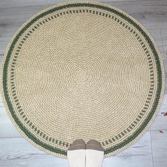 Коврик 90см круглый безворсовый натуральный из джута