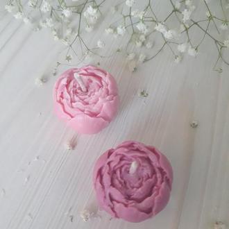 Свеча из соевого воска ручной работы БУТОН с ароматом цветов - Свечи на Свадьбу