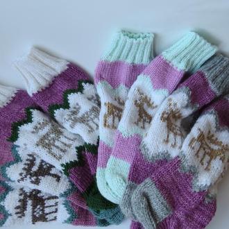 Новогодние носки с оленями