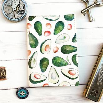 Паспортная обложка, авокадо, обложка на паспорт, обложка для паспорта