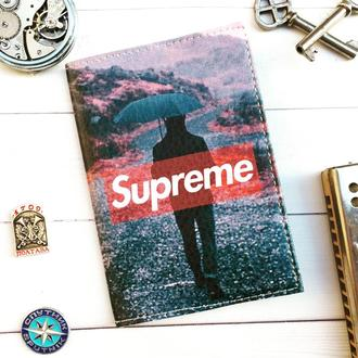 Паспортная обложка, Supreme, обложка на паспорт, обложка для паспорта