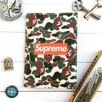Обложка на паспорт, Supreme, паспортная обложка, обложка для паспорта