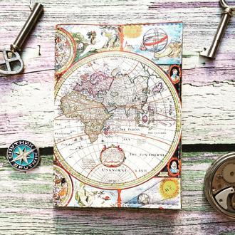 Обложка на паспорт, мир, карта, паспортная обложка, обложка для паспорта