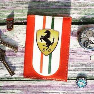Обложка на паспорт, Ферари, Ferrari, car, logo, паспортная обложка, обложка для паспота