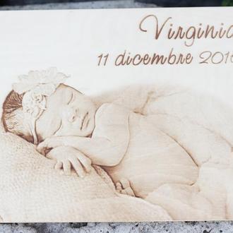 Детский фото альбом, фотоальбом подарок на рождение ребенка, гостевая книга на крещение.