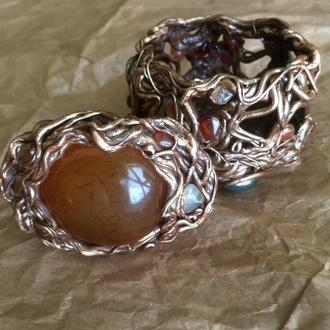 Шкатулка для драгоценностей, шкатулка с сердоликом (7 х 5 х 7,5 см.)