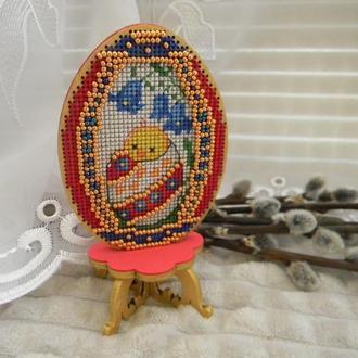 Вышитое пасхальное яйцо ′Цыпленок′