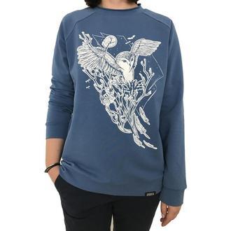 Женский синий свитшот с принтом совы