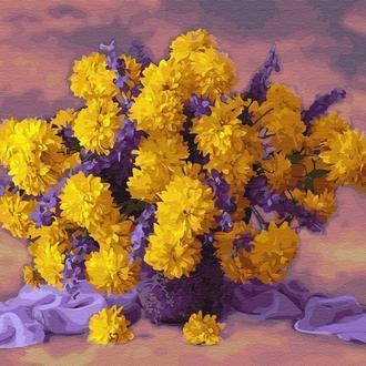"""Картина по номерам """"Букет желтых хризантем"""" GX34028"""