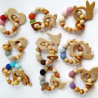 Деревянные прорезыватели- грызунки . Подарок для малыша