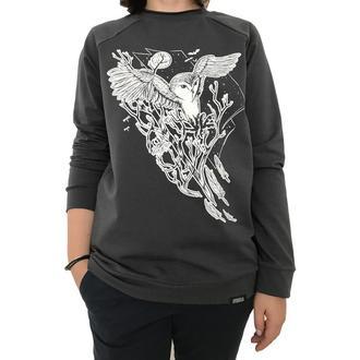 Женский серый свитшот с принтом совы