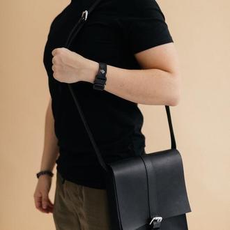 Мужская сумка через плечо из натуральной кожи, Чоловіча шкіряна сумка, баретка мужская