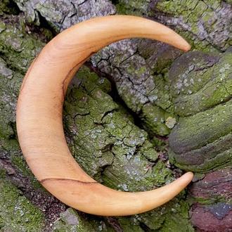 Крафтова заколка для волосся у формі півмісяця