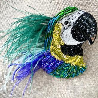 Брошь «Попугай»