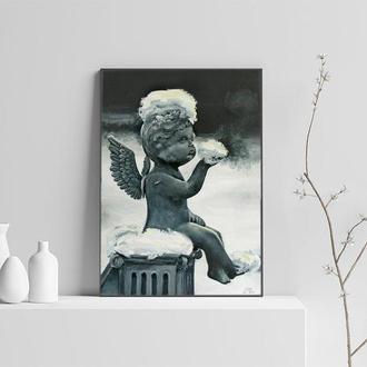 Ангел картина олійними фарбами, олійний живопис