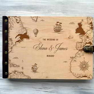 Свадебная книга пожеланий «Карта мира»