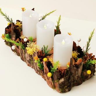 Весенний подсвечник на три свечки