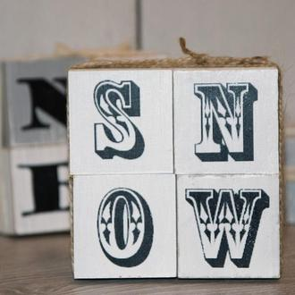 Деревянные кубики (комплект) «SNOW» art 0276