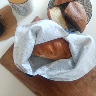 Лляний мішечок для хліба з підкладом, єкохлібниця, мішечок з льону