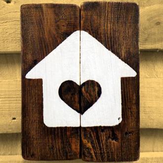 """Картина в стиле лофт """"Home&Heart"""""""