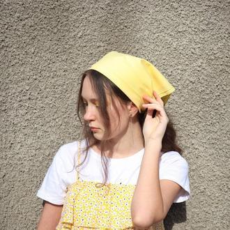 Солнечная хлопковая бандана, женская бандана