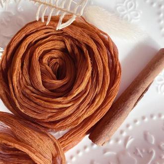 Шелковая лента для свадебного букета TERRACOTTA жатка