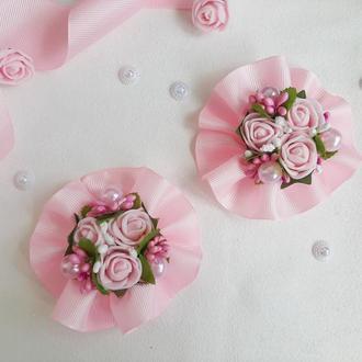 Розовые резинки для волос