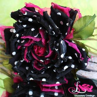 Цветы из ткани брошь роза «Суперстар»
