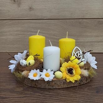 Пасхи, Пасхальная композиция со свечами на стол