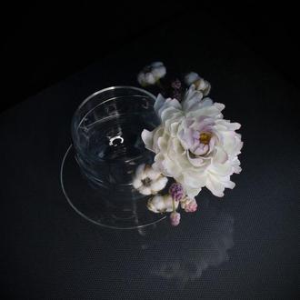 Подарункова чашка з квітами