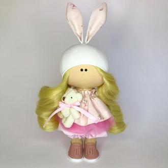 Лялька текстильна Зайка