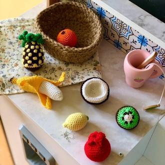 Набор вязанных фруктов