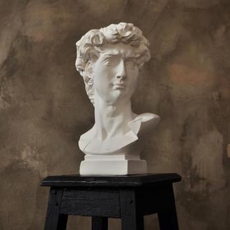 Кашпо Большой Давид 28см ваза подставка под ручки кисти подсвечник органайзер скульптура