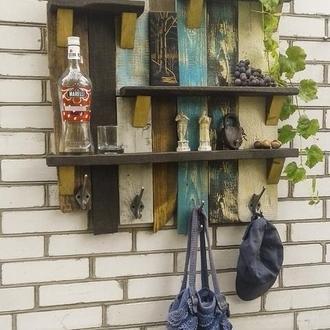"""Настенная деревянная полка """"Ускользающее лето"""""""