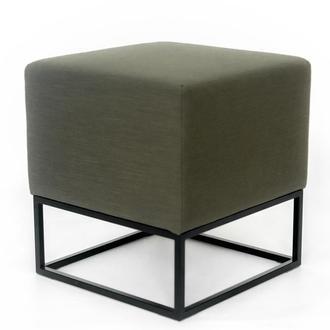 Пуф квадратный Melva LOFT 39 42х42x45 см темно-зеленый (хаки)