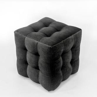 Пуф квадратный Куб 45х45 см темно-серый (графитовый) Misoni 009