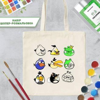 "Шопер-раскраска ""Angry birds"""