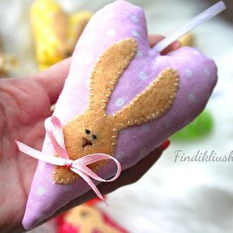 Нежное пасхальное сердечко тильда. Пасхальный кролик, пасхальный заяц, зайцы пасхальные