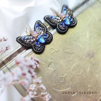 Серьги бабочки дизайнерские