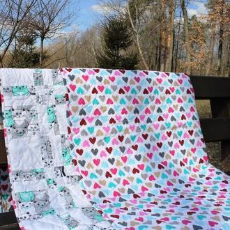 Одеяло в стиле печворк