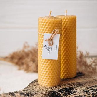 Натуральная свеча из вощины. Свечи из вощины. Эко свечи. Подарочные свечи.