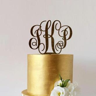 Топпер для торта «Монограмма»