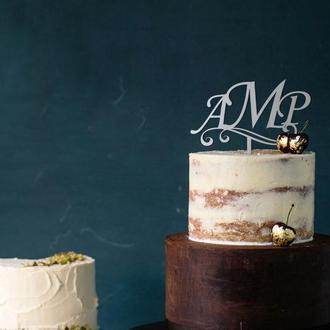 Топпер для торта «Монограмма»-2