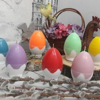 Свеча-яйцо на бетонном основании