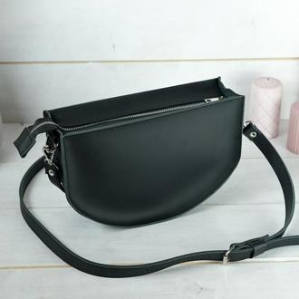 Кожаная женская сумочка Фуксия, кожа Grand, цвет черный