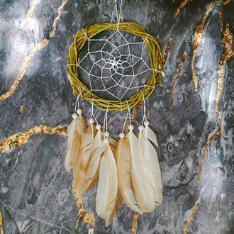 Натуральный ловец снов из ивы. Декор для дома. Подарок. Амулет.