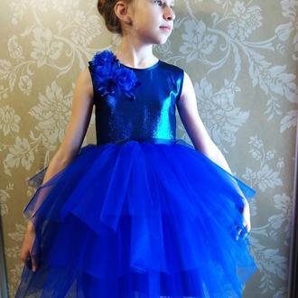 Платье Синяя птица 7-9 лет